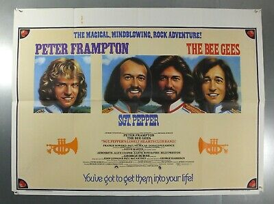 Sgt. Pepper's Lonley Hearts Club Band - The Bee Gees - Original Uk Quad Poster