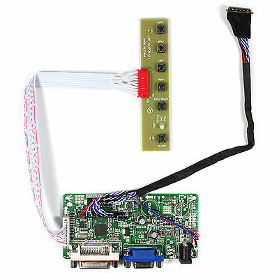 DVI VGA LCD driver board work for 17.3inch LP173WD1 B173RW01 1600x900 lcd panel