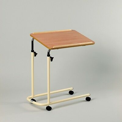 Over bed Table Height Adjustable Tilting Top Mobility  Over Chair Overbed