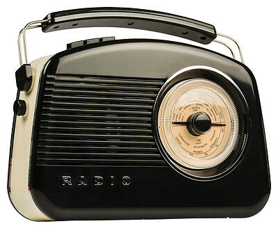 Konig DAB FM AM Stylish Retro Radio - TR900BL - BLACK