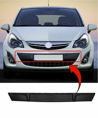 Vauxhall Corsa D 2011>2014 Front Bumper Plate Holder Moulding Grille Backing New