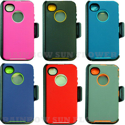 quality design 82450 2cdda FOR APPLE IPHONE 4/4s Case Cover w/ Screen (Belt Clip Fits Otterbox ...
