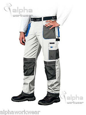 Men Painters and Decorators Work Cargo Trousers Pants with Knee Pads Pockets L&H