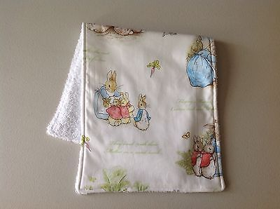 Handmade Baby Burp Cloth ~ Beatrix Potter / Peter Rabbit Print