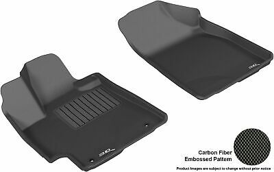 3D MAXpider FIT TOYOTA HIGHLANDER 2008-2013 GAS KAGU BLACK 1st Row FLOOR MAT