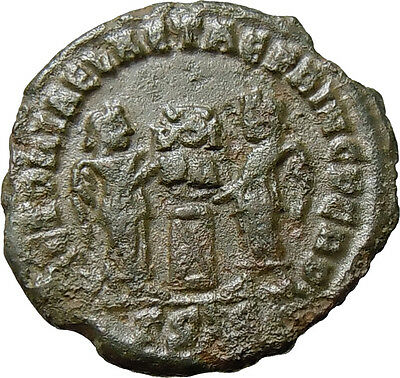 Constantine I the Great AE Two Victories Altar Siscia Mint Authentic Roman Coin