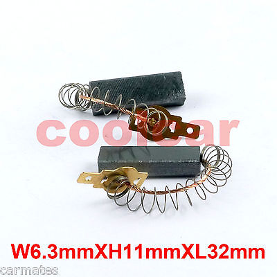 Motor Carbon Brushes For Water-glooming Vacuum cleaner Spring 6.3X11X32mm sydney