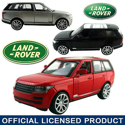 1:39 Range Land Rover Diecast Model Vehicle Car Kids Pull Back Collection Toy