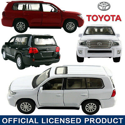 1:41 Toyota Land Cruiser Diecast Model Car Decor Kid Child Pull Back Vehicle Toy