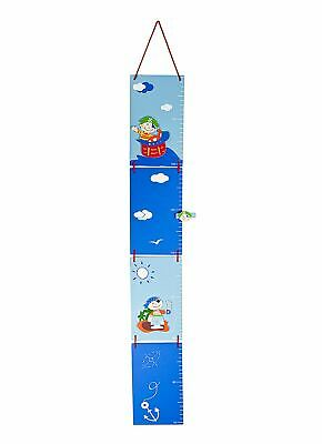 Blue Pirate Children's Height Chart Growth Measuring Chart Boys Nursery Bedroom