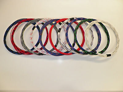 10 Automotive  Wire 18 Gauge  Gxl Ten Colors  10 Each Striped With 150 + Choices