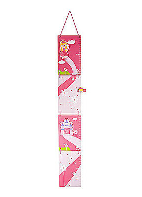 Chlidrens Kids Baby Pink Princess Height Growth Chart Ruler Girl Nursery Bedroom