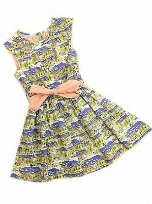 BNWOT Girls Ex Marks & Spencer Pretty Summer Landscape Dress Age  2 - 3 yrs