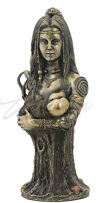 Celtic Goddess Mother Earth Danu  Bust Statue Bronze Finish by Neil Sims