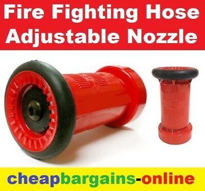 """Fire Fighting Hose Nozzle Adjustable Jet Or Spray Action Nozzle 3/4"""" Bsp Thread"""