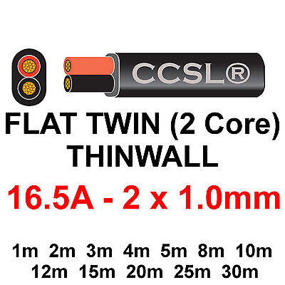 Twin 16.5A 12v THINWALL Automotive Cable Auto Wiring Loom Marine