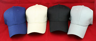 4 PCS Quality Stretch Fit/Flex Fit Plain Caps/Hats AU stock