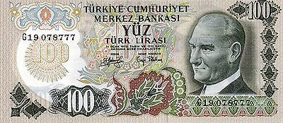 TURKEY Europe 100 Lira 1970 UNC p-189