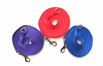 15ft Puppy/Dog Training Lead,Obedience Leash 13mm Strong Webbing Various Colours