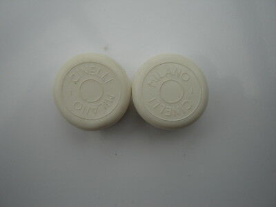 Cinelli Milano White Handlebars End Plugs - Nos