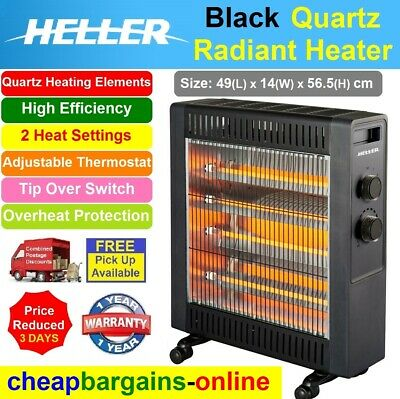 Heller Electric Radiant Heater Convection Heater 2400W Portable Freestanding New