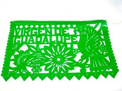 Set Of Three-3 Virgin Of Guadelupe Mexican Papel Picado Banners Bunting Plastic