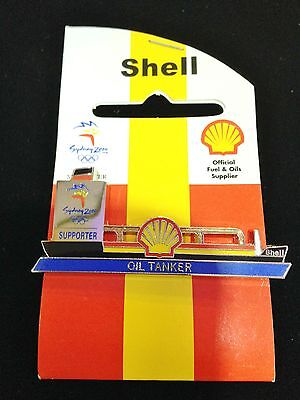 Sydney Olympic Games 2000 Supporter Shell Fuel Oil Tanker Collect Pin Badge #453