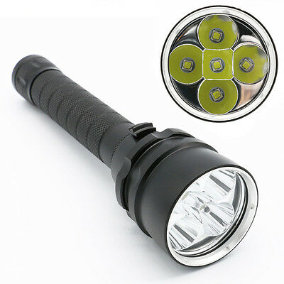 Profi 5xCREE XML L2 LED 7500LM Tauchlampe Taschenlampe Scuba Diving Flashlight
