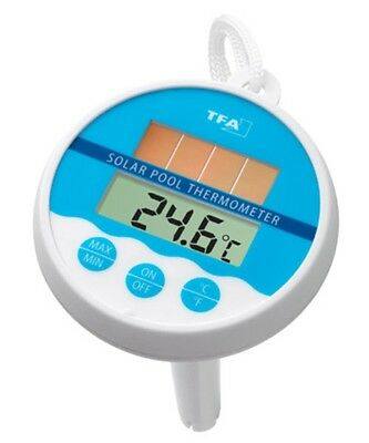 Digitales Solar Poolthermometer Schwimmbad TeichTemperaturkontrolle TFA 30.1041