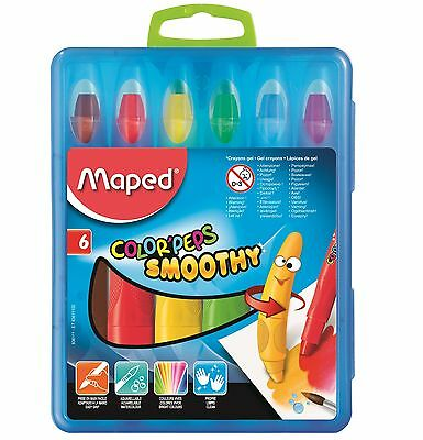 Helix Maped Colour Peps Smoothy Gel Crayons Watercolour Stationery School Color