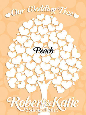 Personalised Wedding Guest Book Alternative.Canvas Print.58 Blank Hearts to Sign