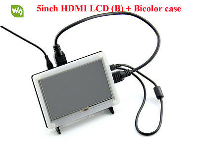 5inch HDMI LCD (B) 800×480 High Resolution Resistive Touch Screen + Bicolor Case