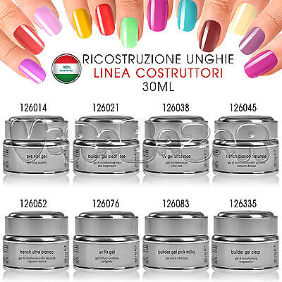 Uv Gel 30Ml Costruttore Sigillante Primer French Lucidante Base Trasparente