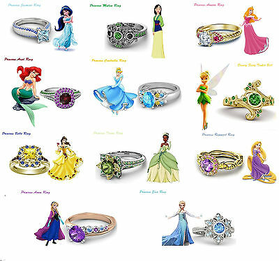 Eye-Catching .925 Sterling Silver Disney Princess Engagement Ring For Women's