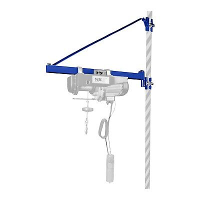 PIVOTING HOIST BOOM - 1319lb LIFTING WINCH ROTATING SWINGING SWIVEL ARM NEW 180°