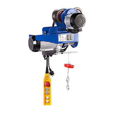 HOIST TROLLEY - 800kg ELECTRIC HOISTING PROFESSIONAL INDUSTRIAL WINCH 1300W NEW