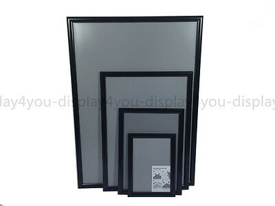 A1A2A3A4 Black Snap Frames Poster Clip Holder Displays Retail Wall Notice Boards