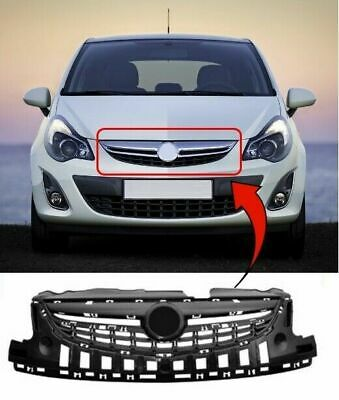 Vauxhall Corsa D 2011>2014 Upper Centre Front Bumper Grille Insurance Approved