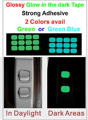 Glow in the Dark sticker for Light Switch Button ( One set 12x Switch Button )