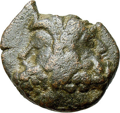 Thessalonica in Macedonia 88BC Two Centaurs part horse part man Janus Time God