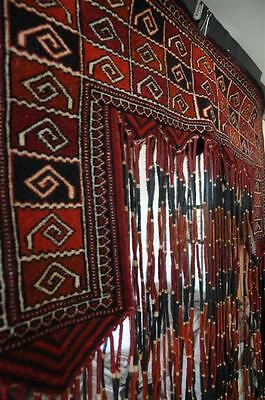 Old Turkish Hand Made all wool Door Hanging… beautiful rich colours...