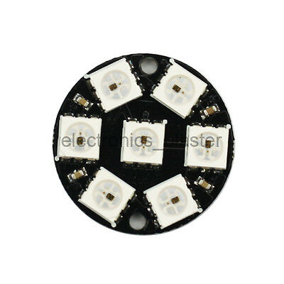 5V WS2812 5050 7 Ultra Bright RGB LED Round Ring Lamp Panel for Arduino