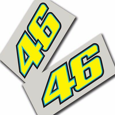 46 Rossi moto new style stickers  motorcycle decals motorcycle graphics x 2