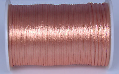 10 Yards Light Coppery 2MM  Satin Cord Macrame Beading Nylon Thread String