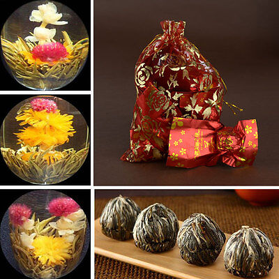 10pcs Handmade Blooming Flower Flowering Green Tea Ball Wedding Drinking Gift