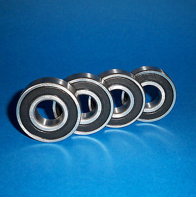 4 Kugellager 6202 2RS / 15 x 35 x 11 mm