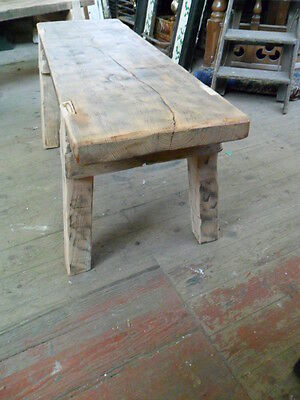 antique style mill bench rustic hand made country bench seat occasional table b1