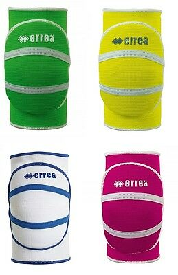 Errea Unisex Volleyball Kneepads Team Sports Green/White/Yellow/Pink T1393