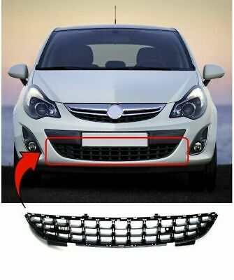 Vauxhall Corsa D 2011 2014 Front Lower Centre Bumper Grille New High Quality
