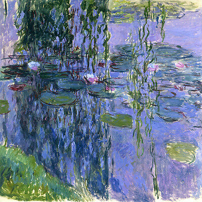 Claude Monet Water Lilies 4 canvas print 11.7X11.7 art reproduction poster